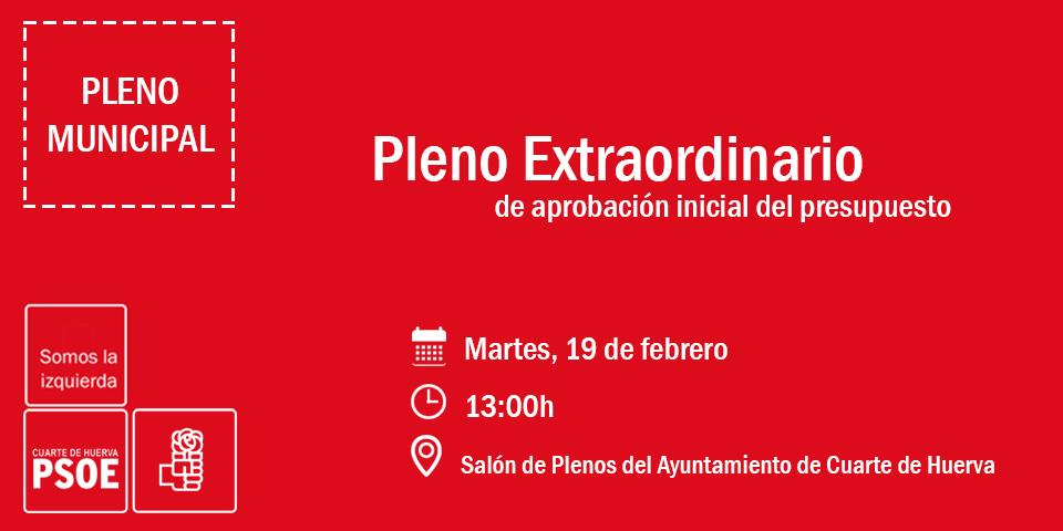 Pleno Extraordinadio – PSOE CUARTE DE HUERVA